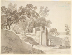 Scene near Mathura (U.P.), with a well.  2 February 1789